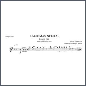 Lagrimas-Negras-Score-Trumpet-in-Bb partitura