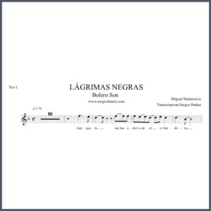 Lagrimas-Negras-Score-Voz-1 partitura