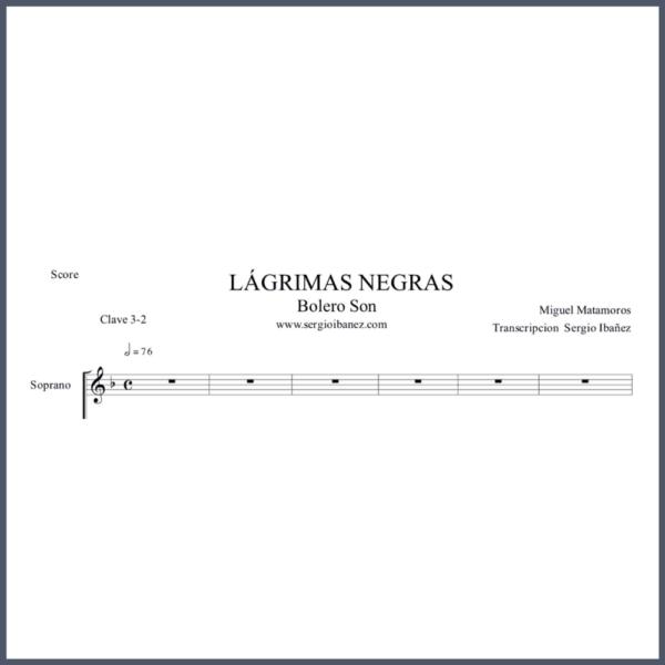 Lagrimas-Negras-Score partituras