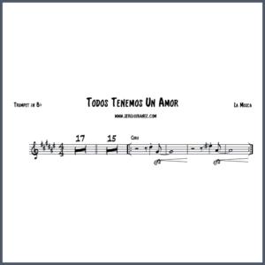 Todos tenemos un amor - Trumpet in Bb partitura