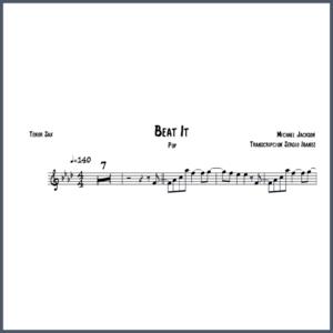 Beat It Michael Jackson - Tenor Sax partitura