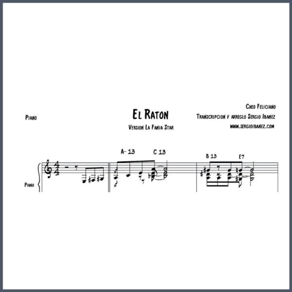 El Raton Cheo Feliciano Original - Piano partitura