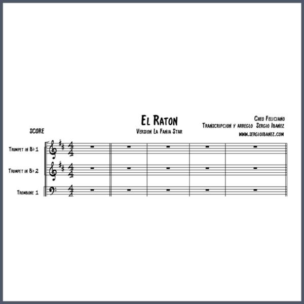 El Raton Cheo Feliciano Original - SCORE partitura