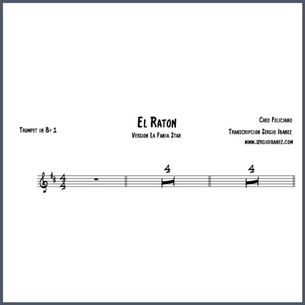 El Raton Cheo Feliciano Original - Trumpet in Bb 1 partitura