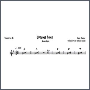 Uptown Funk-Trompeta partitura