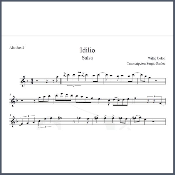 Idilio Partitura Saxofón Alto Arreglos