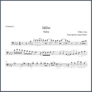 Idilio Partitura Trombón Solos