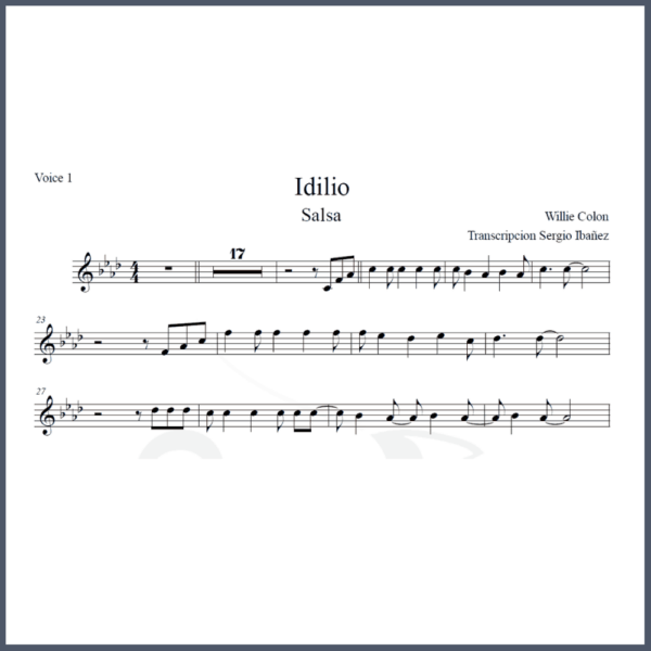 Idilio Partitura Willie Colon Melodía